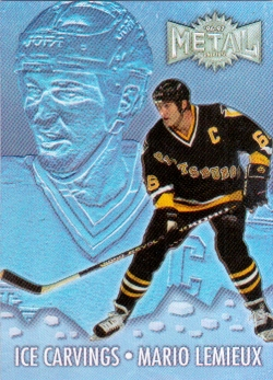 96-97 Fleer Metal Universe Ice Carvings Super Power Lemieux