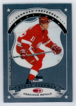 97-98 Donruss Preferred Precious Metals Yzerman