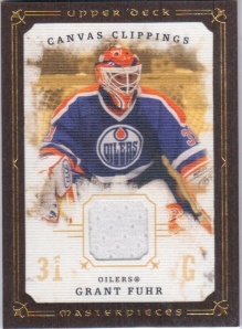 2008-09 UD Masterpieces Canvas Clippings Fuhr