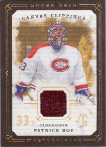 2008-09 UD Masterpieces Canvas Clippings Roy MTL